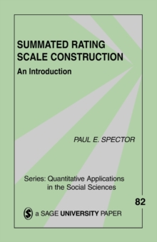 Summated Rating Scale Construction : An Introduction, Paperback Book