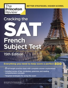 Cracking The Sat French Subject Test, 15Th Edition, Paperback Book