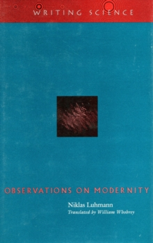 Observations on Modernity, Paperback / softback Book