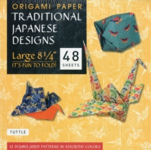 Origami Paper : Traditional Japanese Designs Large, Paperback Book
