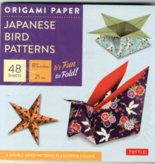 "Origami Paper - Japanese Bird Patterns - 6 3/4"" - 48 Sheets : Tuttle Origami Paper: High-Quality Origami Sheets Printed with 8 Different Patterns: Instructions for 7 Projects Included, Notebook / blank book Book"