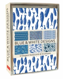 Blue and White Note Cards : 6 Blank Note Cards and Envelopes, Kit Book