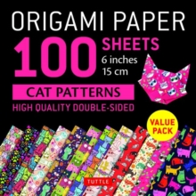 Origami Paper 100 sheets Cat Patterns 6 (15 cm), Loose-leaf Book