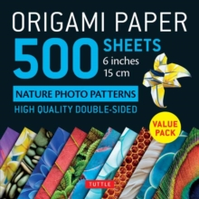 Origami Paper 500 sheets Nature Photo Patterns 6 (15 cm), Loose-leaf Book