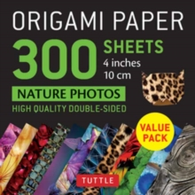 Origami Paper 300 sheets Nature Photo Patterns 4 inch (10 cm), Loose-leaf Book