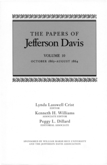 The Papers of Jefferson Davis : October 1863-August 1864, EPUB eBook