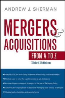 Mergers and Acquisitions from A to Z, Hardback Book