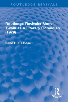 : Mark Twain as a Literary Comedian (1979), Paperback / softback Book