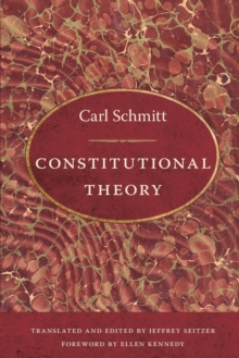 Constitutional Theory, Paperback / softback Book