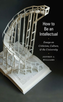 How to Be an Intellectual : Essays on Criticism, Culture, and the University, Hardback Book