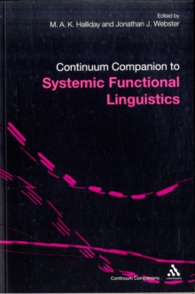 Continuum Companion to Systemic Functional Linguistics, Paperback / softback Book