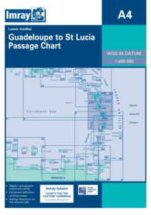 Imray Iolaire Chart A4 : Guadeloupe to St Lucia, Sheet map, folded Book