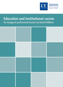 Education and institutional racism, PDF eBook