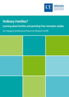 Ordinary Families? : Learning about families and parenting from normative studies, PDF eBook