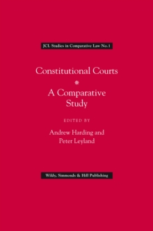 Constitutional Courts : A Comparative Study, Hardback Book
