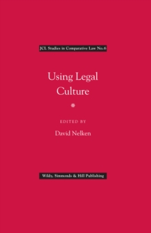 Using Legal Culture, Hardback Book