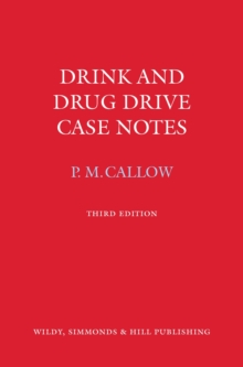 Drink and Drug Drive Cases Notes, Book Book