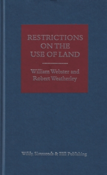 Restrictions on the Use of Land, Hardback Book