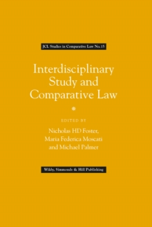 Interdisciplinary Study and Comparative Law (JCL Studies in Comparative Law No. 15), Hardback Book