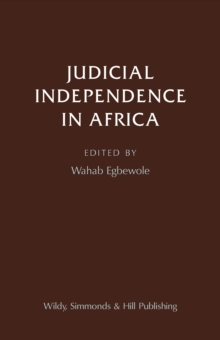 Judicial Independence in Africa, Hardback Book