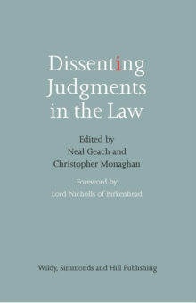 Dissenting Judgments in the Law, Paperback / softback Book