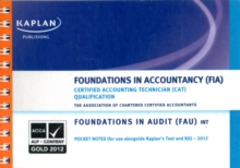 FAU (INT) Foundations in Audit - Pocket Notes, Paperback Book