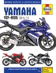 Yamaha YZF-R125 Service and Repair Manual : 2008 to 2011, Hardback Book