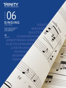 Trinity College London Singing Grade 6 Low Voice 2018-2021, Sheet music Book