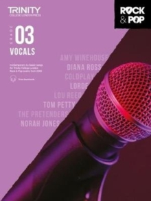 Trinity College London Rock & Pop 2018 Vocals Grade 3 CD Only, Sheet music Book