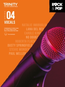 Trinity College London Rock & Pop 2018 Vocals Grade 4, Sheet music Book