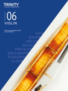 Trinity College London Violin Exam Pieces 2020-2023: Grade 6, Sheet music Book