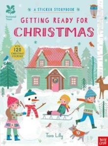 National Trust: Getting Ready for Christmas, A Sticker Storybook, Paperback / softback Book