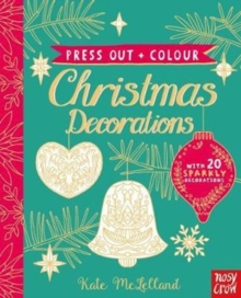 Press Out and Colour: Christmas Decorations, Board book Book