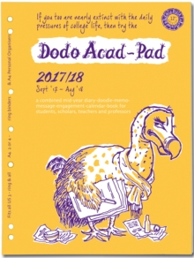 Dodo ACAD-PAD 2017-2018 Filofax-Compatible A4 Organiser Diary (2/3/4 Ring/US Letter Size) Refill, Mid-Year / Academic, Week to View : A Doodle-Memo-Message-Engagement-Planner for Students & Teachers, Diary Book