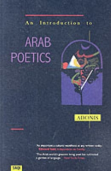 An Introduction to Arab Poetics, Paperback Book