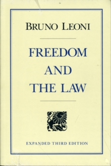 Freedom and the Law, Paperback / softback Book