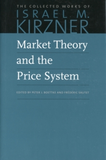 Market Theory & the Price System, Hardback Book
