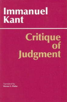 Critique of Judgment, Paperback Book