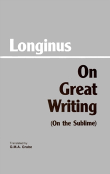 On Great Writing (On the Sublime), Paperback Book