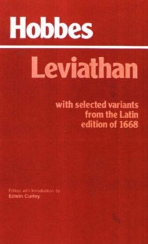 Leviathan : With selected variants from the Latin edition of 1668, Paperback / softback Book