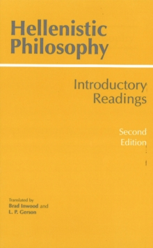 Hellenistic Philosophy, Paperback Book
