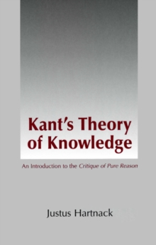 Kant's Theory of Knowledge, Paperback / softback Book