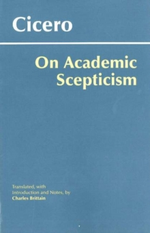 On Academic Scepticism, Paperback Book