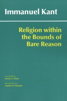 Religion within the Bounds of Bare Reason, Paperback Book