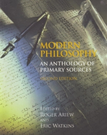 Modern Philosophy : An Anthology of Primary Sources, Hardback Book
