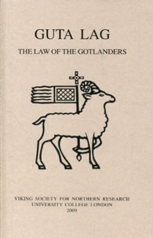 Guta Lag : The Law of the Gotlanders, Paperback / softback Book