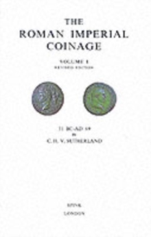 The Roman Imperial Coinage Volume I, Hardback Book
