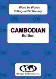 English-Cambodian & Cambodian-English Word-to-Word Dictionary, Paperback / softback Book