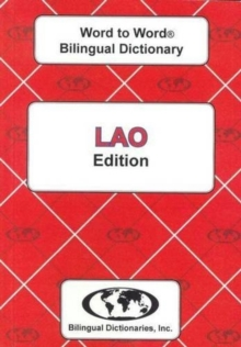 English-Lao & Lao-English Word-to-Word Dictionary : Suitable for exams, Paperback Book