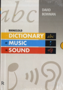 Dictionary of Music in Sound, Mixed media product Book